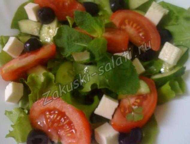 салат помидоры огурцы брынза