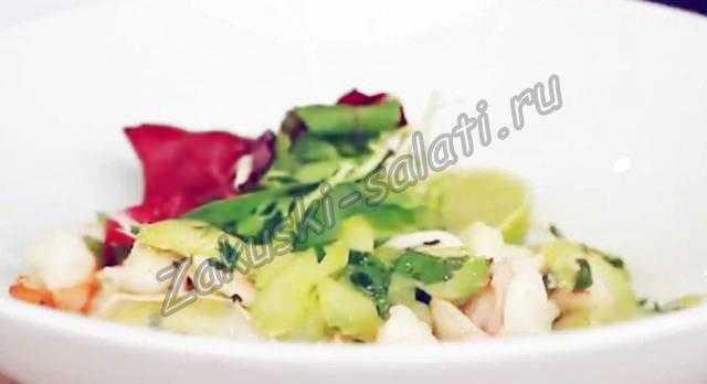 Салат из морепродуктов без майонеза