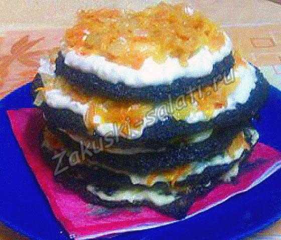 Тортик из печени