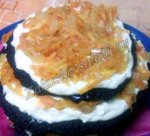 печёночный тортик рецепт с фото