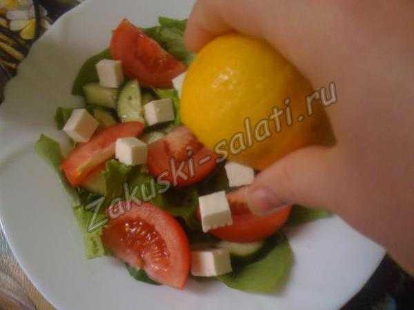 Сбрызгиваем соком лимона