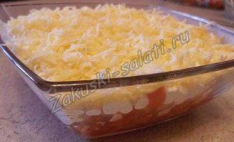 Салат из помидор с крабовыми палочками