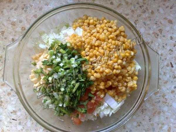 добавляем зелень к продуктам