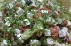 Деревенский салат по-гречески
