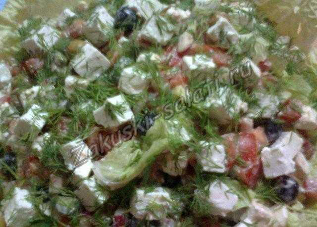 греческий салат ингредиенты