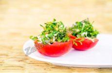 Закуска из фаршированных помидор