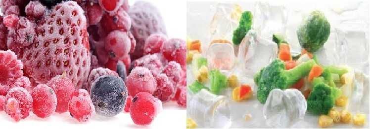 заморозка овощей и фруктов в домашних условиях