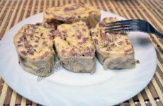 Закуска из лаваша с сыром и ветчиной