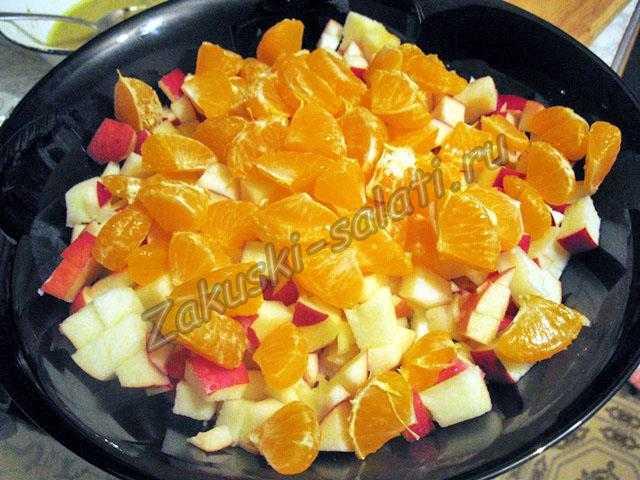 Добавляем очищенный мандарин