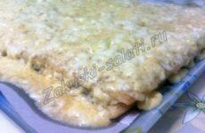 Закусочный торт с рыбной консервой