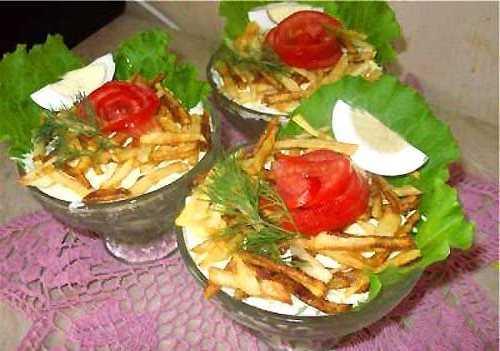 Красивая подача салатов