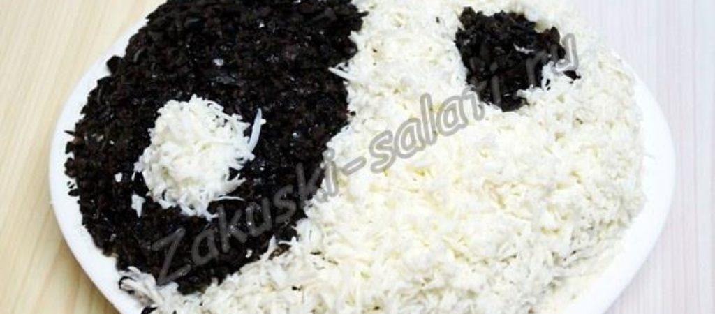 Стихийный салат с тунцом  «Инь и Янь»