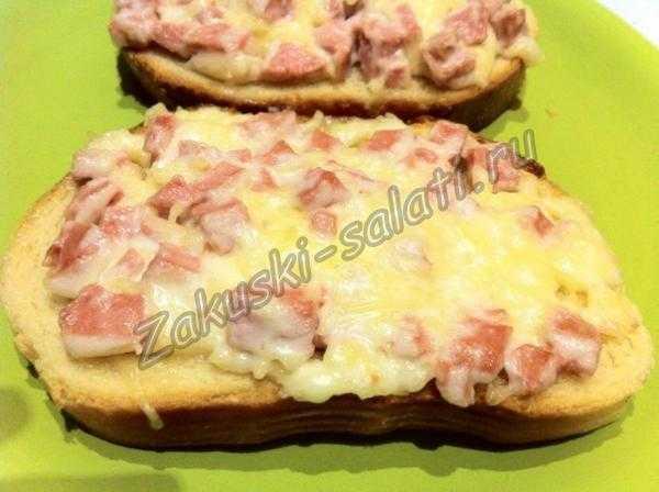 бутерброды с сыром и колбасой