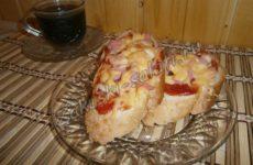Два рецепта простых горячих бутербродов, рецепты с фото