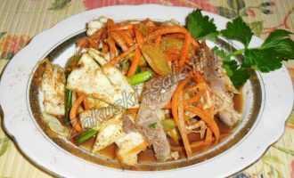 Салат с куриными желудками, рецепт с фото