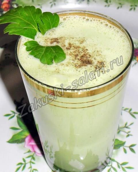 зеленый кефир