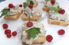 Оригинальные бутерброды с тартаром из селедки