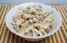 Рецепт салата «Оливье» с копченой колбасой