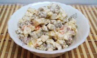 """Рецепт салата """"Оливье"""" с копченой колбасой"""
