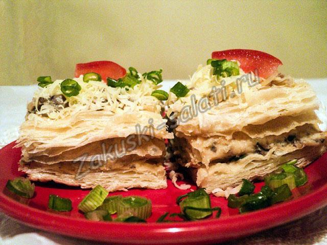 торт закусочный из готового теста