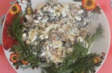 Салат с моцареллой и красной фасолью