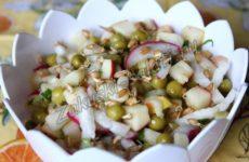 Салат с пророщенной пшеницей на завтрак