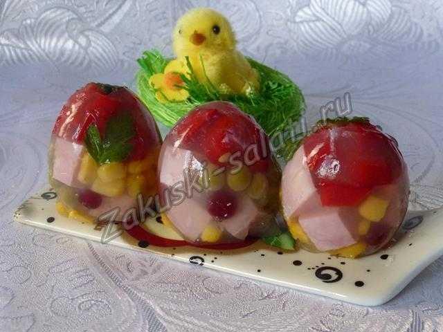 заливное пасхальные яйца