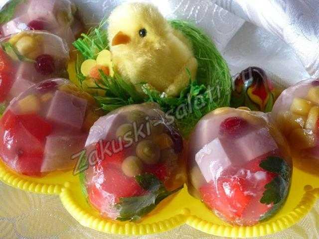 заливные яйца на пасху