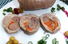 Рецепт рулета из отбивной свинины с начинкой