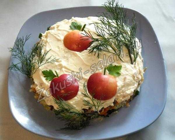 """салат """"Яблоки на снегу"""""""