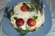 Новогодний салат «Яблоки на снегу»