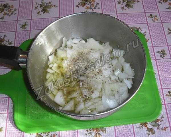 мелко режем лук