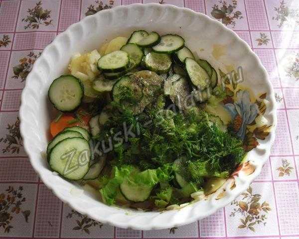 режем остальные овощи