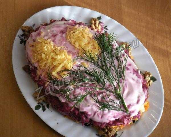 """салат """"цветы распкускаются"""""""