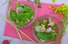 Весенний салатик со щавелем