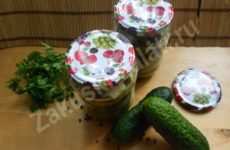 Салат на зиму из огурцов и лука