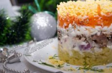 Салат «Мимоза» с домашним майонезом на Новый год