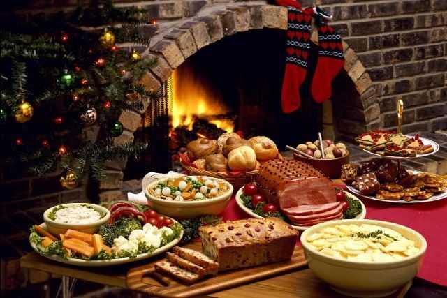 новогодний стол закуски