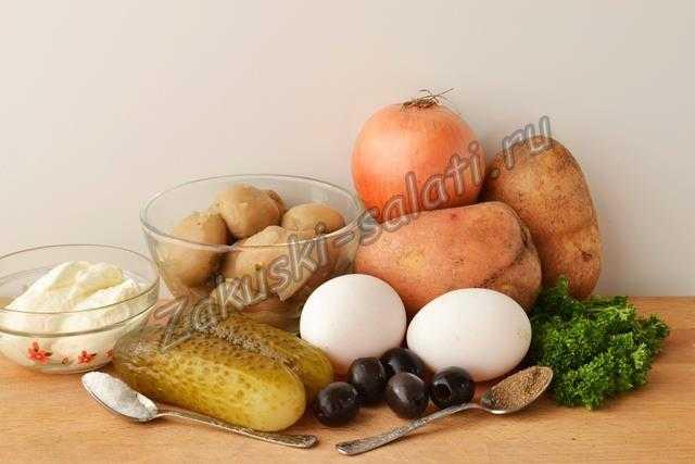 ингредиенты для салата Овечка