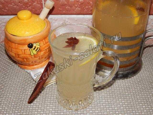 Имбирный напиток с корицей: рецепт