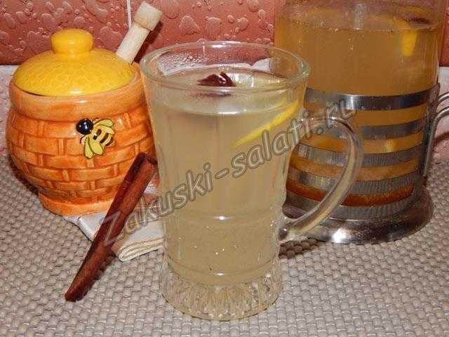 имбирный напиток с корицей