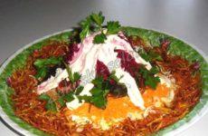 Французский салат — экономный вариант