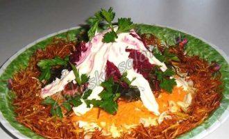 Французский салат - экономный вариант