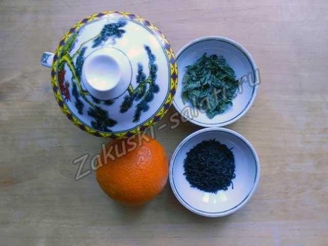 ингредиенты для чая