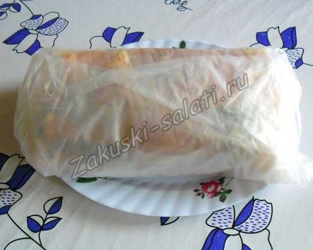 кладем сало в пакеты