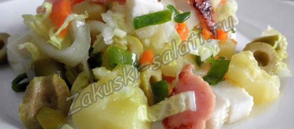 Картофельный салат с сосисками «Дачный»