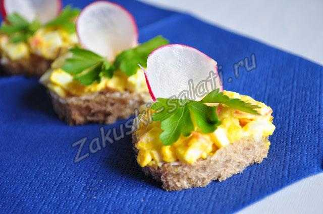 Бутерброды с плавленным сыром и яйцом, рецепт