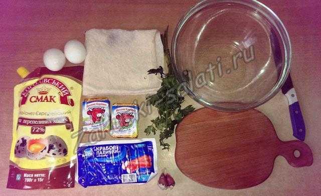 Лаваш с колбасой и крабовыми палочками – кулинарный рецепт