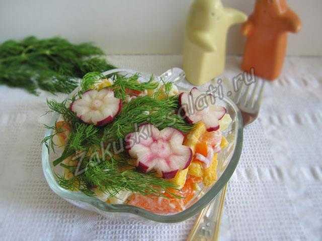 салат цветы, рецепт с фото