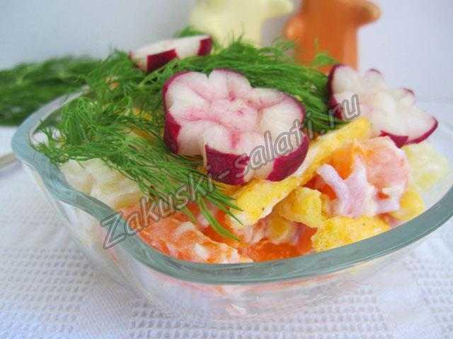 вкусный салат Цветы